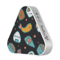 Cute happy seamless sushi pattern on black speaker
