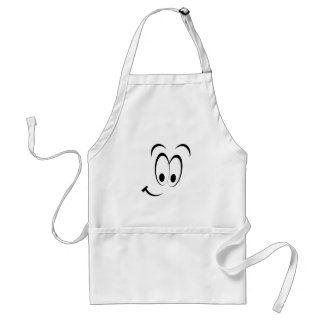 cute happy smiley face adult apron