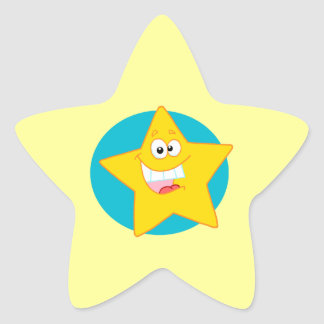 cute happy smiling cartoon star star sticker