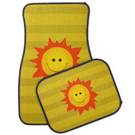 Cute Happy Smiling Sun Floor Mat