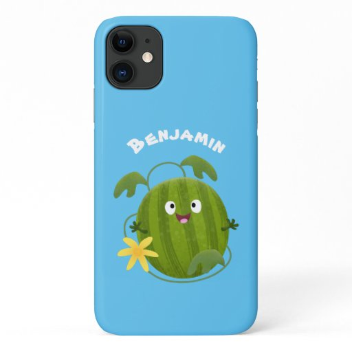 Cute happy smiling watermelon cartoon iPhone 11 case