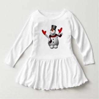 Cute Happy Snowman Dress