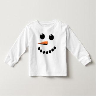 Cute Happy Snowman Face Festive Holiday Xmas Toddler T-shirt