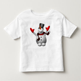 Cute Happy Snowman Toddler T-shirt