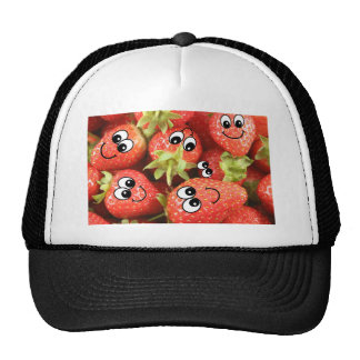 Cute Happy Strawberries Hats