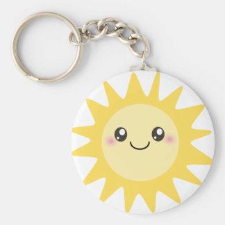 Cute Happy Sun Keychain