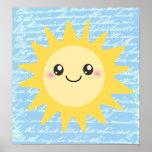 Cute Happy Sun Poster