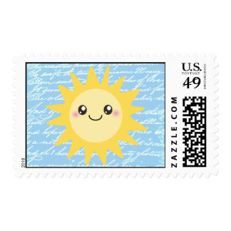 Cute Happy Sun Stamps
