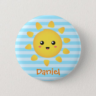 Cute Happy Sun Sunshine for Kids Button