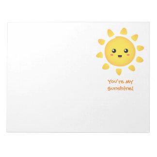 Cute Happy Sun Sunshine for Kids Notepad