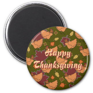 Cute Happy Thanksgiving Chicken Magnet Magnets
