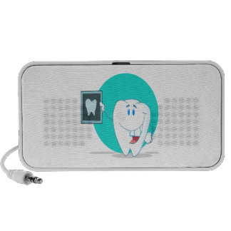 cute happy tooth character with clean xray iPhone speakers