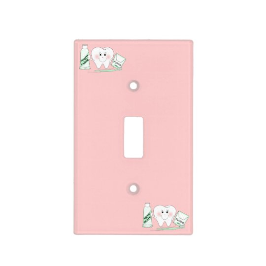 """Cute """"Happy Tooth"""" Light Switch Cover"""