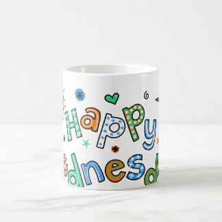 Cute Happy Wednesday Week Greeting Text Expression Coffee Mug