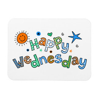 Cute Happy Wednesday Week Greeting Text Expression Magnet