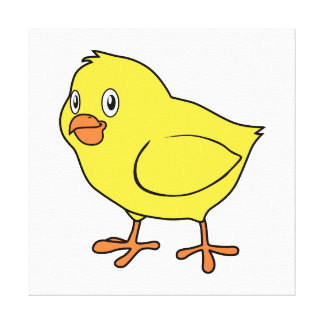 Cute Happy Yellow Chick Canvas Print