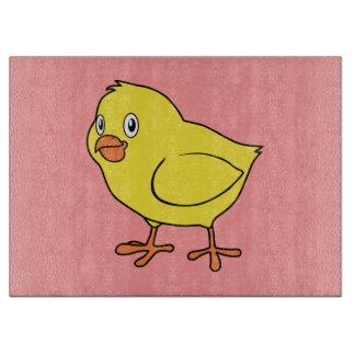 Cute Happy Yellow Chick Cutting Board
