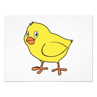 Cute Happy Yellow Chick Photo Print