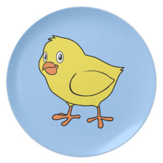 Cute Happy Yellow Chick Plate