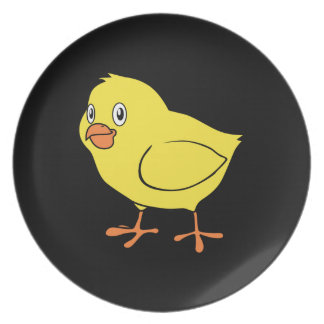 Cute Happy Yellow Chick Plates