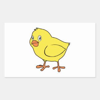 Cute Happy Yellow Chick Rectangular Stickers