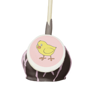 Cute Happy Yellow Chick Cake Pops