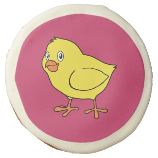 Cute Happy Yellow Chick Sugar Cookie