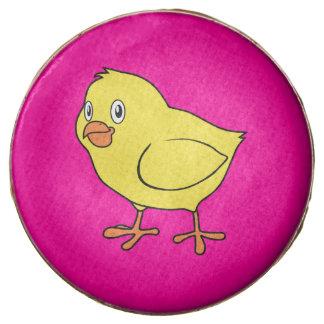 Cute Happy Yellow Chick Chocolate Dipped Oreo