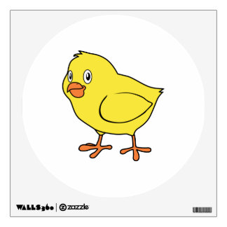 Cute Happy Yellow Chick Wall Decal
