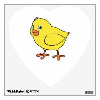 Cute Happy Yellow Chick Wall Sticker