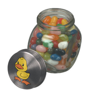 Cute Happy Yellow Duckling Lame Duck Day Jelly Belly Candy Jar