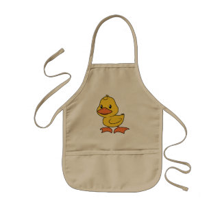 Cute Happy Yellow Duckling Lame Duck Day Kids' Apron