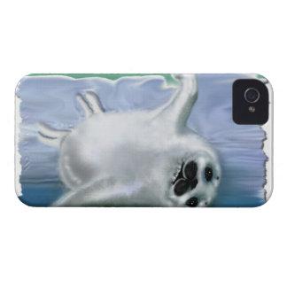 Cute Harp Seal Fantasy Art Wildlife Phone Case iPhone 4 Cover