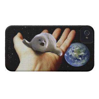 Cute Harp Seal Fantasy Art Wildlife Supporter Case-Mate iPhone 4 Case