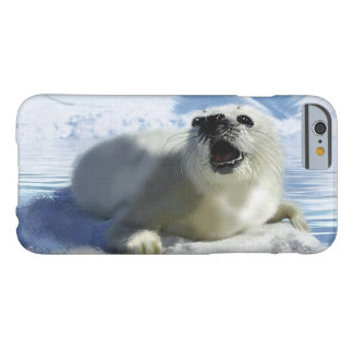 Cute Harp Seal & Ice Art for Wildlife Supporters Barely There iPhone 6 Case