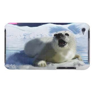 Cute Harp Seal & Ice Art for Wildlife Supporters iPod Touch Case