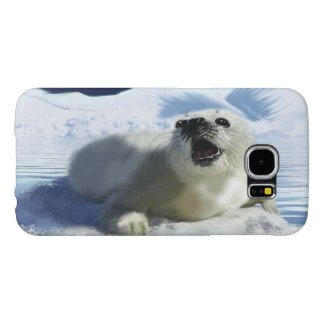 Cute Harp Seal & Ice Art for Wildlife Supporters Samsung Galaxy S6 Case