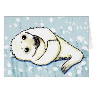 Cute Harp Seal Pup Card