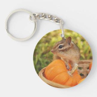 Cute Harvest Chipmunk Keychain