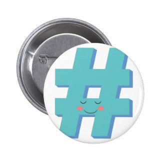 Cute Hashtag Button