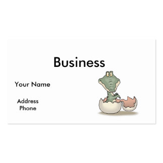 cute hatching baby alligator Double-Sided standard business cards (Pack of 100)