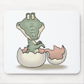cute hatching baby alligator mouse pad