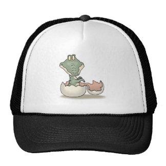 cute hatching baby alligator trucker hat