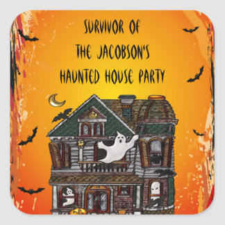 Cute Haunted House Party Survior Stickers