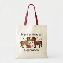 Cute Have a Horsey Halloween Horse Tote Bag