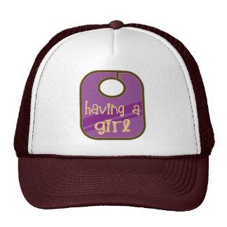 Cute Having A Girl Announcement Trucker Hat