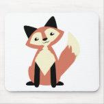 Cute Head-tilt Fox Mouse Mat