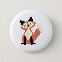 Cute Head-tilt Fox Pinback Button