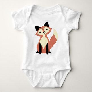 Cute Head-tilt Fox Infant Creeper