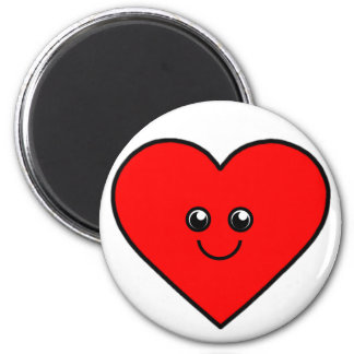 Cute Heart 2 Inch Round Magnet